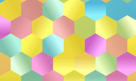 Pattern with multi-colored hexagons Simple geometric background. Mosaic style. Vector illustration Royalty Free Stock Images