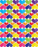 Pattern of multicolor openwork hearts Stock Photography