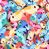 Pattern multicolored butterflies Stock Photo