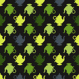 Pattern with a multicolored teapots Royalty Free Stock Photography