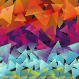 Pattern multicolored triangles Stock Photos