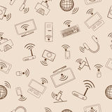 Pattern multimedia devices Wi Fi Royalty Free Stock Image