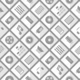Pattern multimedia. seamless Stock Image
