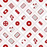 Pattern multimedia. seamless Royalty Free Stock Photos