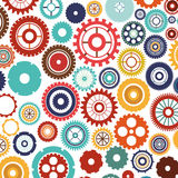 Pattern with multiple colorful gears Stock Images