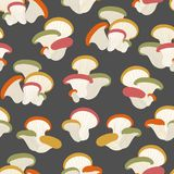Pattern with mushrooms ornament royalty free illustration
