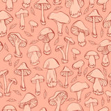 Pattern with mushrooms Royalty Free Stock Images