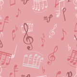 Pattern with music Stock Photos