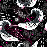 Pattern narwhals Royalty Free Stock Photo