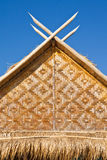 Pattern of  native Thai style bamboo hut on island Royalty Free Stock Images