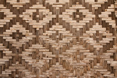 Pattern native Thai style bamboo wall Royalty Free Stock Photos