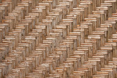 Pattern native Thai style bamboo wall Stock Image