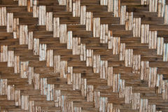 Pattern native Thai style bamboo wall Royalty Free Stock Photo