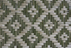 Pattern native Thai style bamboo wall Royalty Free Stock Photo