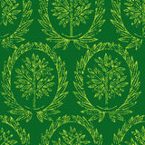 Pattern with natural leafs Royalty Free Stock Photography