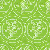 Pattern with natural leafs Royalty Free Stock Image