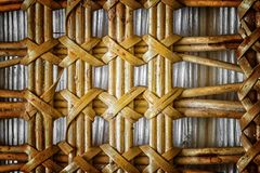 Pattern nature for background of handicraft weave texture wicker Stock Photos