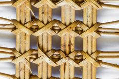 Pattern nature for background of handicraft weave texture wicker Royalty Free Stock Photos