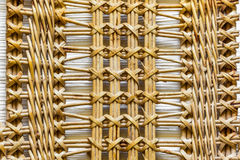 Pattern nature for background of handicraft weave texture wicker Stock Images