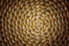 Pattern nature for background of handicraft weave texture wicker Royalty Free Stock Image