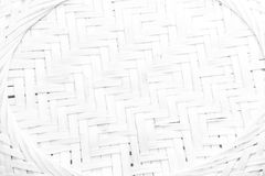 Pattern nature for background of handicraft weave white texture. Wicker surface Royalty Free Stock Photo