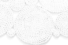 Pattern nature for background of handicraft weave white texture. Wicker surface Royalty Free Stock Images