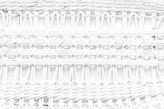 Pattern nature for background of handicraft weave white texture. Wicker surface Royalty Free Stock Photography