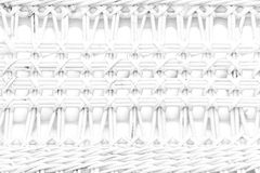 Pattern nature for background of handicraft weave white texture. Wicker surface Stock Images
