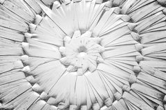 Pattern nature for background of handicraft weave white texture. Wicker surface. Darker from the centre Royalty Free Stock Photo