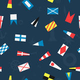 Pattern of the nautical flags Royalty Free Stock Photos