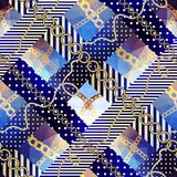 Pattern in nautical style. Royalty Free Stock Photography