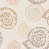 Pattern of nautilus Royalty Free Stock Photo