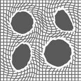 Pattern of net with torn holes. Abstract texture with ragged grid. Vector background stock illustration