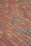 Pattern of a new brick walkway Stock Photo