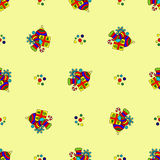 Pattern with new year celebration Stock Image