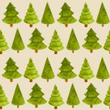 Pattern new year green fir tree illustration stock photos
