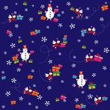 Pattern New Year and Merry Christmas Stock Photo