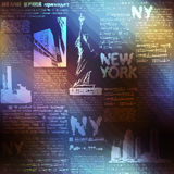 Pattern New York on blurred background Royalty Free Stock Photography