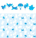 Pattern for newborn boy. Blue pattern for newborn boy Royalty Free Stock Image