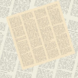 Pattern of newspapers Royalty Free Stock Photography