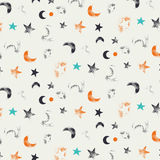 Pattern- night and moon Royalty Free Stock Photo