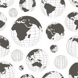 Pattern of nine globes Royalty Free Stock Images