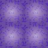 Pattern with number pi Stock Photos