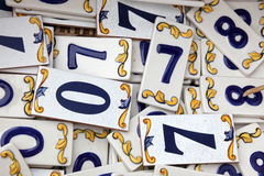 A pattern of numbers Royalty Free Stock Photo