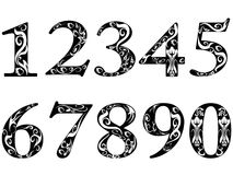 Pattern numbers. Isolated pattern numbers on white background Stock Illustration