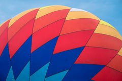 Pattern on nylon envelope of  a hot air balloon Stock Images