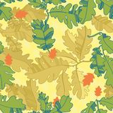 Pattern of oak autumn leaves. seamless pattern. Royalty Free Stock Photo