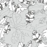 Pattern of oak autumn leaves. seamless pattern. Stock Image
