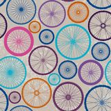 Pattern Of Bycicles Wheels. Stock Photography