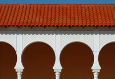 Free Pattern Of Covered Arcade In Spanish Style. Royalty Free Stock Image - 13474336